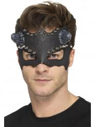 Zwart masker met nagels en hoorns voor volwassenen