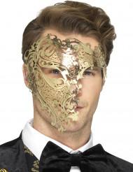 Goudkleurig half masker voor volwassenen