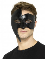 Zwart gothic spook masker