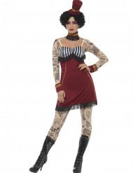Tatoeage circus kostuum voor vrouwen