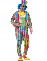 Patchwork clown kostuum voor mannen