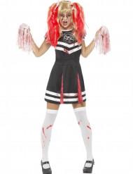 Satanistisch cheerleader kostuum voor dames