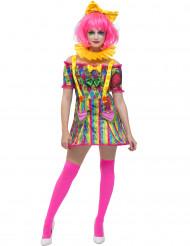 Clown patchwork kostuum voor vrouwen