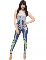 Kleurrijk skelet pak voor vrouwen