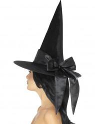 Zwarte hoed met zwarte strik voor vrouwen