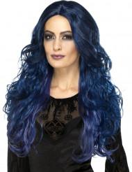 Lange donkerblauwe pruik voor vrouwen