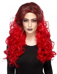 Warmte resistente rode glamour pruik voor vrouwen
