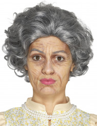 Oude vrouw schmink set met latex