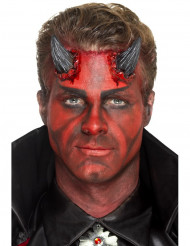 Zwarte latex duivel hoorns prothese voor volwassenen