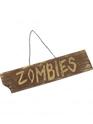 Zombie bord decoratie