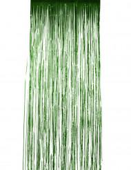 Groen glanzend gordijn