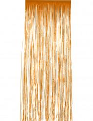 Oranje glanzend gordijn