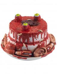 Bloederige taart met lichaamsdelen