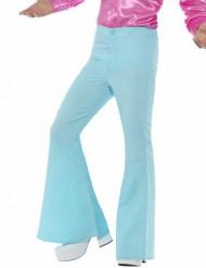 Turkooisblauwe disco broek voor mannen