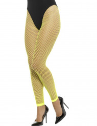Fluo gele visnet legging voor vrouwen