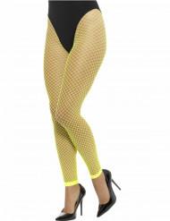 Fluo groene visnet legging voor vrouwen