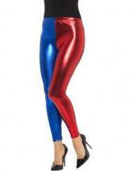 Rood blauwe metallic legging