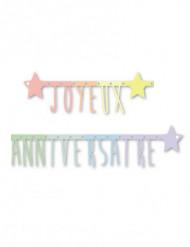 Verjaardagsslinger pastelkleuren