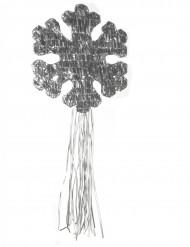 Zilverkleurige sneeuwvlok pinata