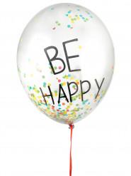3 veelkleurige latex confetti ballonnen