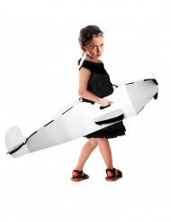 Personaliseerbaar karton vliegtuig kostuum voor kinderen