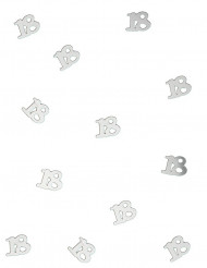 Zilverkleurige 18 jaar confetti