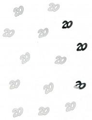 20 jaar tafelconfetti