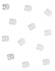 Tafelconfetti 50 jaar zilver