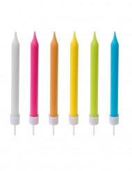 10 gekleurde verjaardagskaarsjes