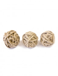 6 kleine touw balletjes