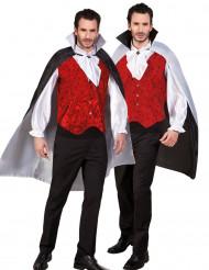 Omkeerbare zwarte en witte cape voor volwassenen