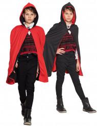 Omkeerbare zwarte en rode cape voor kinderen