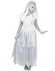 Wit bruid spook kostuum voor vrouwen