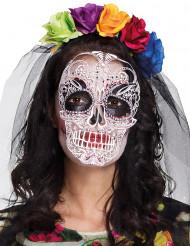 Kleurrijke Dia de los Muertos masker en haarband voor vrouwen