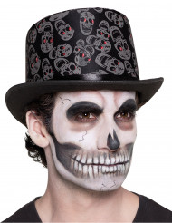 Dia de los Muertos doodskop hoed voor volwassenen