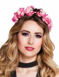Roze haarband met spin voor vrouwen
