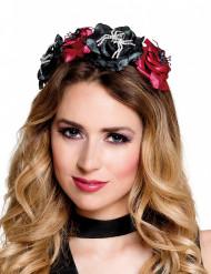 Dia de los Muertos haarband met rozen voor vrouwen