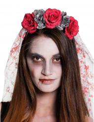 Dia de los Muertos bruidssluier voor vrouwen