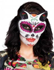 Dia de los Muertos katten masker voor vrouwen