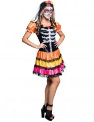 Kleurrijke Dia de los Muertos outfit voor tieners