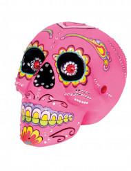Roze Dia de los Muertos doodskop decoratie