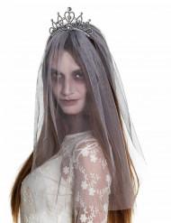 Zombie tiara met sluier voor vrouwen