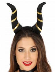 Zwarte duivelse hoorns voor vrouwen