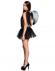 Zwarte tutu met vleugels voor vrouwen