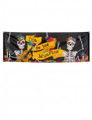 Kleurrijke Dia de los Muertos banner