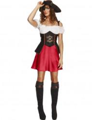 Sexy piraten kostuum met driesteek voor dames