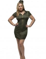 Militair piloten kostuum voor vrouwen - Grote Maten
