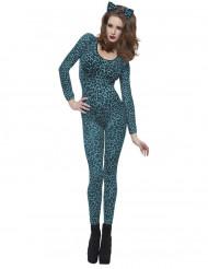 Blauwe luipaard kostuum voor volwassenen