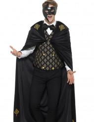 Zwart en goudkleurig barok kostuum voor mannen