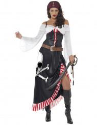 Sexy doodskop piraten kostuum voor vrouwen